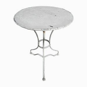 Runder Gartentisch aus Stahl, 1930er