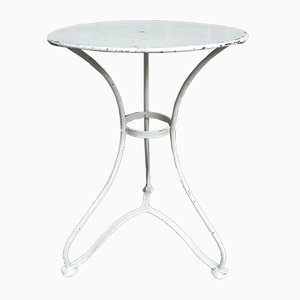 Tavolo da giardino rotondo in acciaio, anni '30