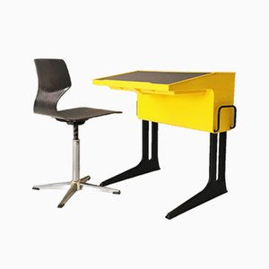Space Age Desk with Chair by Luigi Colani for Flötotto, 1970s