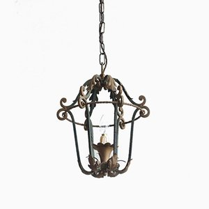 Antique Wrought Iron Lantern Ceiling Lamp