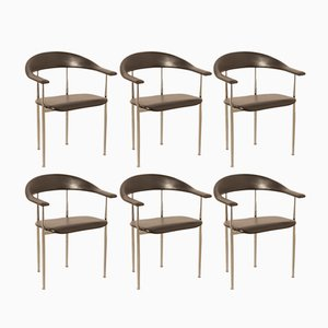 P-40 Chairs by Giancarlo Vegni & Gianfranco Gualtierotti for Fasem, 1980s, Set of 6