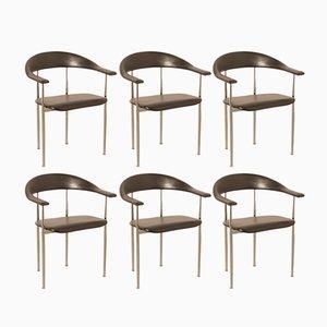 P-40 Stühle von Giancarlo Vegni & Gianfranco Gualtierotti für Fasem, 1980er, 6er Set