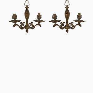Applique vintage in bronzo, set di 2
