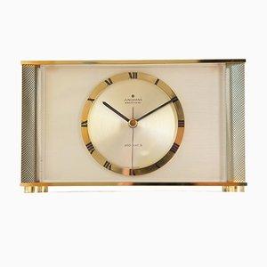 Ato-Mat-S Brass & Aluminum Mantel Clock from Junghans, 1970s
