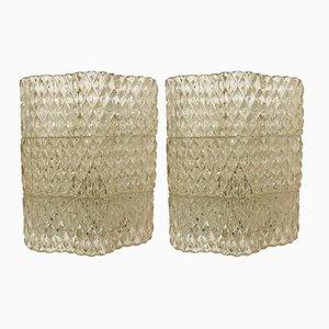 Mid-Century Murano Glass Sconces, Set of 2
