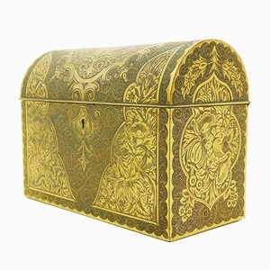 19th-Century French Gilt Traveling Scent Bottle Chest