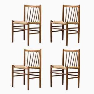 J80 Dining Chairs by Jørgen Baekmark for FDB Møbler, 1950s, Set of 4