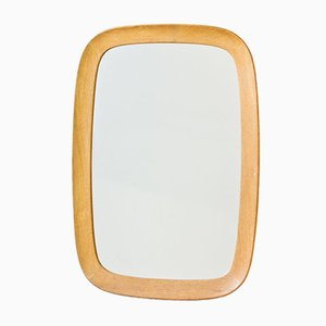 Mid-Century Oak Wall Mirror from Fröseke, 1950s