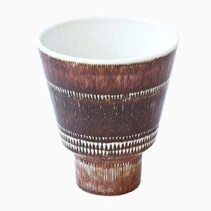 Mid-Century Vase aus Steingut von Hertha Bengtsson für Rörstrand, 1950er