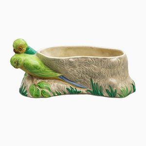 Jardinière Love Birds Vintage Potterie d'Art par Clarice Cliff pour Newport Pottery