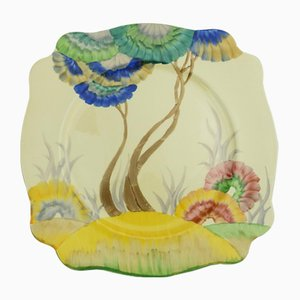 Art Deco Viscaria Plate by Clarice Cliff for Royal Staffordshire Pottery, 1930s