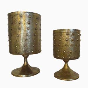 Bronze Cups, 1970s, Set of 2