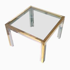 Niedriger Tisch aus Messing von Romeo Rega, 1960er