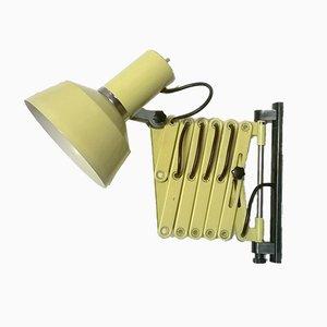 Lámpara de pared tijera en beige, años 60