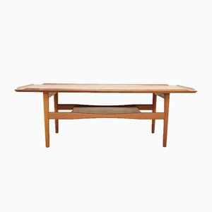 Table Basse Moderne en Teck par Poul Jensen pour Selig, Danemark