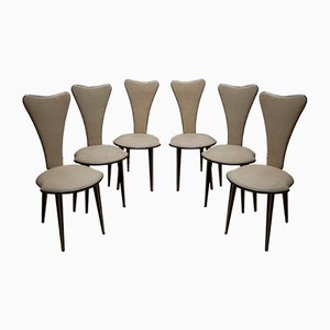 Dining Chairs by Umberto Mascagni for Mascagni, 1950s, Set of 6