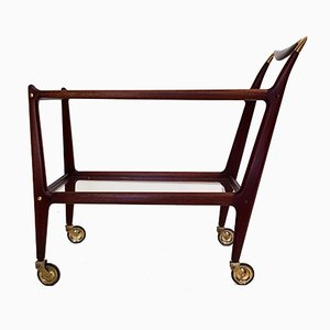 Rosewood & Brass Trolley by Ico & Luisa Parisi for De Baggis, 1950s