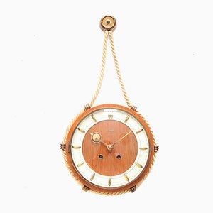 Art Deco Wall Clock by Heinrich Möller for Kienzle International, 1950s