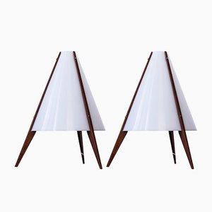 Lampes de Bureau par Hans Agne Jakobsson et Arne Nilsson, 1950s, Set de 2