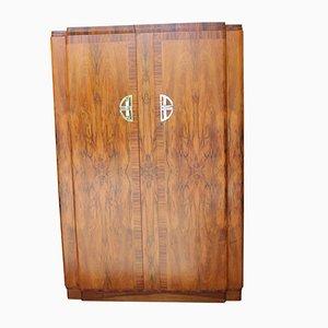 Art Deco Kleiderschrank aus Nussholz, 1920er