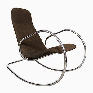 Rocking Chair S826 Cantilever Vintage en Chrome par Ulrich Böhme pour Thonet