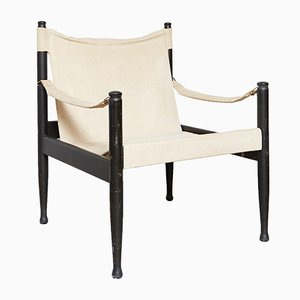 Mid-Century Safari Armchair by Eric Wørts for Niels Eilersen
