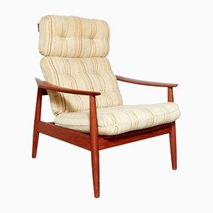 Vintage FD164 Highback Armchair by Arne Vodder for Cado