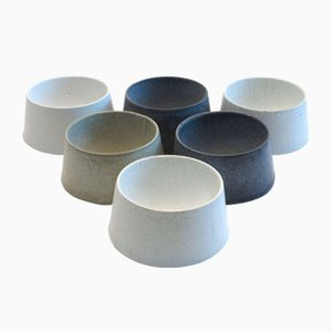 Concrete Egg Cups by Ulf Neumann for rohes wohnen, Set of 6