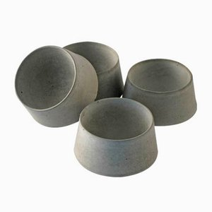 Concrete Egg Cups by Ulf Neumann for rohes wohnen, Set of 4