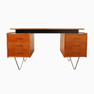 Teak Veneer Desk by Cees Braakman for Pastoe, 1960s