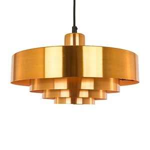 Copper Roulet Pendant Lamp by Jo Hammerborg for Fog & Mørup, 1970s