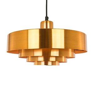 Lámpara colgante Roulet de cobre de Jo Hammerborg para Fog & Mørup, años 70