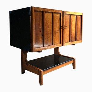 Mueble bar de madera de techo lacada, años 50