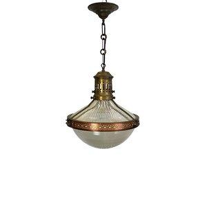 Große Jugendstil Deckenlampe von Holophane, 1910er
