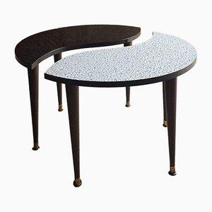 Mid-Century Yin & Yang Tripod Side Table, 1950s