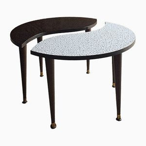 Table d'Appoint Tripode Yin & Yang Mid-Century, 1950s