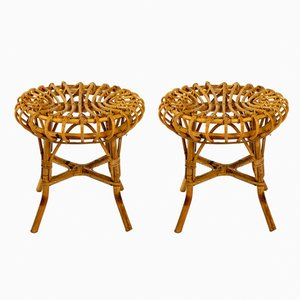 Sgabelli in bambù, anni '60, set di 2