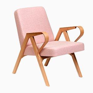 Poltrona Aurora di lana rosa di Hunik Design