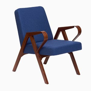 Aurora Armchair in Blue Wool from Hunik Design