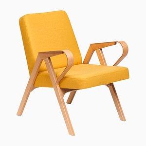 Aurora Polsterstuhl in gelber Wolle von Hunik Design