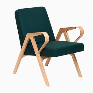 Aurora Armchair in Green Wool from Hunik Design