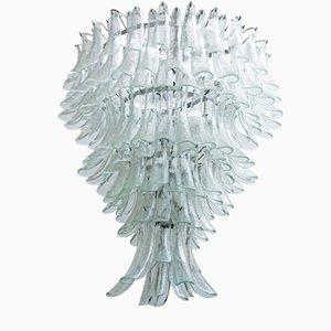 Großer Murano Glas Kronleuchter von Mazzega, 1975