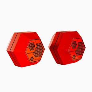 Hexagon Loudspeakers by Terje Ekstrøm for Tandberg Fasett, 1970s