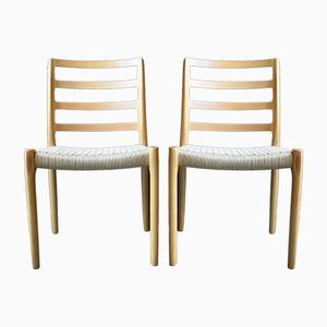 Type 85 Dining Chairs by Niels Otto (N. O.) Møller for J.L. Møllers, 1970s, Set of 2