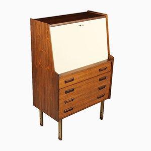 Vintage Italian Rosewood & Formica Drop-Leaf Cabinet, 1960s