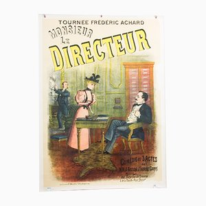 Großes Vintage Monsieur Le Directeur Plakat