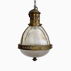 Jugendstil Deckenlampe von Holophane, 1900er
