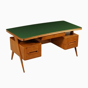 Vintage Italian Mahogany Writing Desk, 1950s