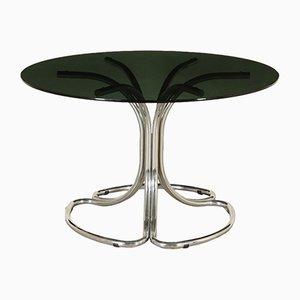 Italienischer Vintage Tisch mit röhrenförmigem Chromgestell, 1960er