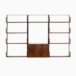 Rosewood Canvas Wall Unit by Marten Franckema for Fristho, 1960s